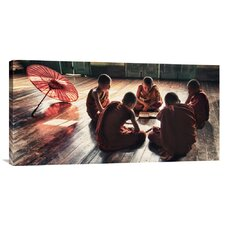 'Young Monks Reading Books in Monastery' by Scott Stulberg Photographic Print on Canvas