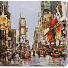 'Times Square Jam' by John B. Mannarini Stretched Canvas Art