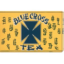 'Blue Cross Tea' by Retrolabel Vintage Advertisement on Canvas