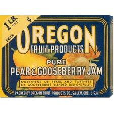 'Pure Pear & Gooseberry Jam' by Retrolabel Vintage Advertisement on Canvas