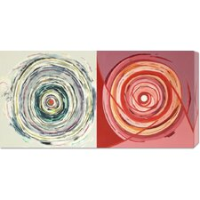 <strong>Bentley Global Arts</strong> 'Target duo III' by Nino Mustica Stretched Canvas Art