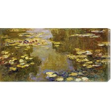 'The Lily Pond' by Claude Monet Stretched Canvas Art