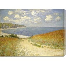 'Path In The Wheat at Pourville' by Claude Monet Stretched Canvas Art