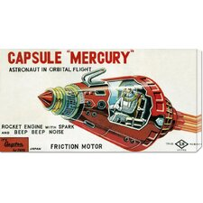 <strong>Bentley Global Arts</strong> 'Capsule Mercury' by Retrobot Stretched Canvas Art