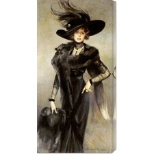 <strong>Bentley Global Arts</strong> 'Fashionable Beauty' by Francois Flameng Stretched Canvas Art