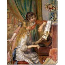 <strong>Bentley Global Arts</strong> 'Two Young Girls at the Piano' by Pierre Auguste Renoir Stretched Canvas Art