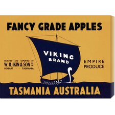 'Viking Brand Fancy Grade Apples' by Retrolabel Stretched Canvas Art