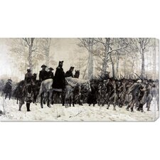 'Washington Reviewing His Troops at Valley Forge' by William T. Trego Painting Print on Canvas
