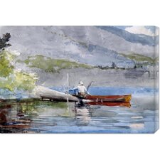 'The Red Canoe' by Winslow Homer Stretched Canvas Art