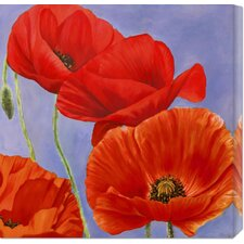 'Dance of Poppies I' by Luca Villa Painting Print on Canvas