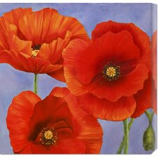 'Dance of Poppies II' by Luca Villa Painting Print on Canvas