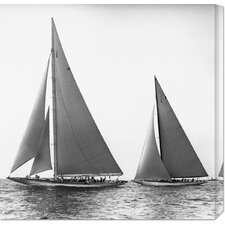 'Sailboats in the America's Cup, 1934' by Edwin Levick Photographic Print on Canvas