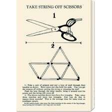 'Take String off Scissors' by Retromagic Stretched Canvas Art