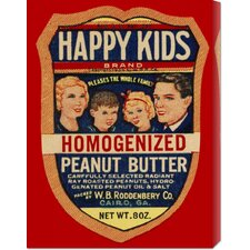 <strong>Bentley Global Arts</strong> 'Happy Kids Homogenized Peanut Butter' by Retrolabel Stretched Canvas Art