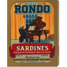 'Rondo Brand Sardines' by Retrolabel Stretched Canvas Art
