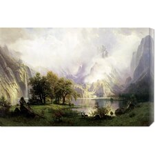 'View of Rocky Mountains' by Albert Bierstadt Stretched Canvas Art