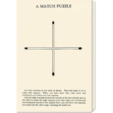 'A Match Puzzle' by Retromagic Stretched Canvas Art