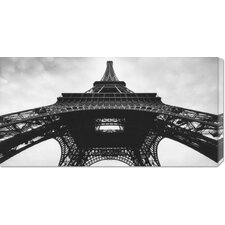 'The Eiffel Tower' by Christopher Felver Stretched Canvas Art