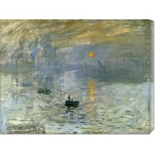 'Impression: Sunrise' by Claude Monet Stretched Canvas Art