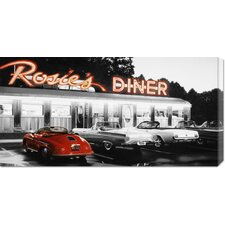 'Rosie's Diner #5' by Robert Gniewek Stretched Canvas Art