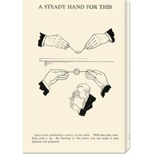 'A Steady Hand for This' by Retromagic Stretched Canvas Art