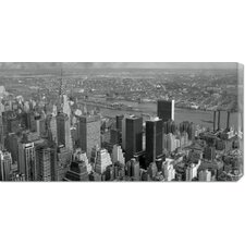 'New York Skyline' by Philip Gendreau Stretched Canvas Art