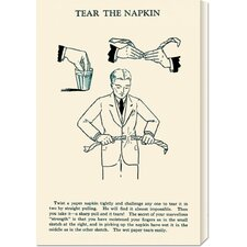 'Tear the Napkin' by Retromagic Stretched Canvas Art