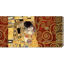 'The Kiss Gold' by Klimt Painting Print on Canvas