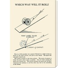 'Which Way Will It Roll' by Retromagic Stretched Canvas Art