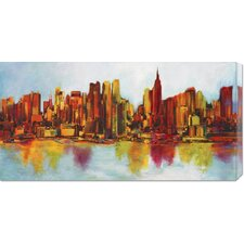<strong>Bentley Global Arts</strong> 'New York Abskyline' by Claude Becaud Stretched Canvas Art