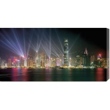 'Symphony of Lights, Hong Kong' by Chan Yat Nin Graphic Art on Canvas
