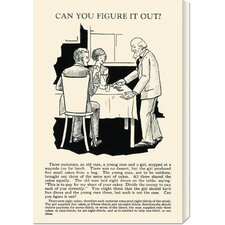 <strong>Bentley Global Arts</strong> 'Can You Figure it Out' by Retromagic Stretched Canvas Art