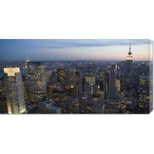 <strong>Bentley Global Arts</strong> Unknown 'Manhattan at Dusk' Stretched Canvas Art