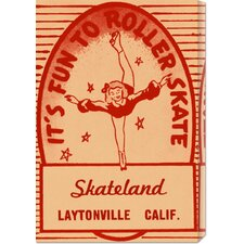 'It's Fun To Roller Skate' by RetroRollers Vintage Advertisement on Canvas