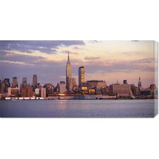 Unknown 'Skyline of New York City' Stretched Canvas Art