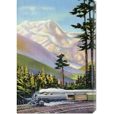 <strong>Bentley Global Arts</strong> 'Steaming Through the Valley' by Retro Travel Stretched Canvas Art