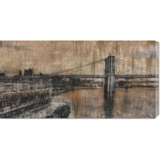 'Brooklyn Bridge 1' by Dario Moschetta Stretched Canvas Art