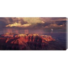 'Sunset Thunderstorm at Grand Canyon' by Bill Ross Stretched Canvas Art