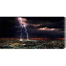 <strong>Bentley Global Arts</strong> 'Lightning over the City' by Rob Matheson Stretched Canvas Art