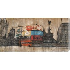 <strong>Bentley Global Arts</strong> 'Piccadilly Circus 1' by Dario Moschetta Stretched Canvas Art