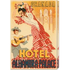 'Hotel Alhambra - Palace' by Retro Travel Stretched Canvas Art