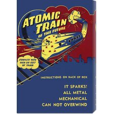 <strong>Bentley Global Arts</strong> 'Atomic Train of the Future' by Retrotrans Stretched Canvas Art