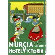 'Murcia Hotel - Valencia Spain' by Retro Travel Vintage Advertisement on Canvas