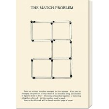 'The Match Problem' by Retromagic Stretched Canvas Art