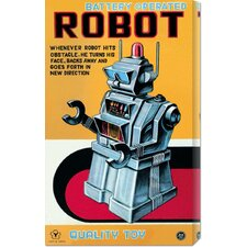 <strong>Bentley Global Arts</strong> 'Battery Operated Robot' by Retrobot Stretched Canvas Art
