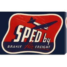 'Sped by Branif Air Freight' by Retro Travel Stretched Canvas Art