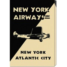 'New York Airways Inc' by Retro Travel Vintage Advertisement on Canvas
