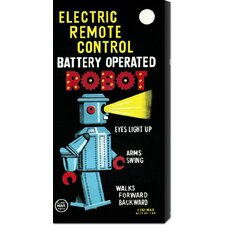 <strong>Bentley Global Arts</strong> 'Electric Remote Control Battery Operated Robot' by Retrobot Stretched Canvas Art