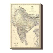 <strong>Bentley Global Arts</strong> 'Composite: India, 1861' by Alexander Keith Johnston Stretched Canvas Art