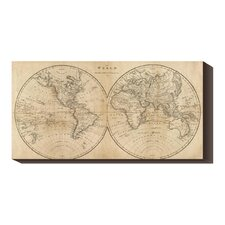 <strong>Bentley Global Arts</strong> 'The World, 1825' by Mathew Carey Stretched Canvas Art